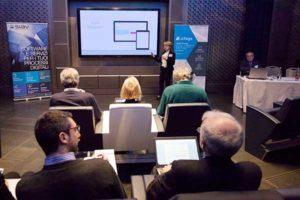 Alessandra Morelli, sviluppatrice software di Siav, alla presentazione di Silloge
