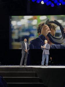 Rodney Clark di Microsoft insieme al CEO di PTC, Jim Happelmann